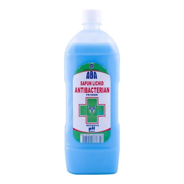 Aba Sapun Lichid Antibacterian, 1000 ml, la oferta promotionala✅. Produse profesionale de igiena si dezinfectie✅.