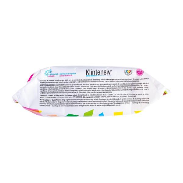 Klintensiv Servetele umede dezinfectante pentru suprafete, avizat Ministerul Sanatatii, 80 buc, la oferta promotionala✅. Produse profesionale de igiena si dezinfectie✅.