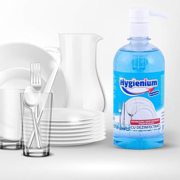 Hygienium Detergent de vase, 500 ml, la oferta promotionala✅. Produse profesionale de igiena si dezinfectie✅.