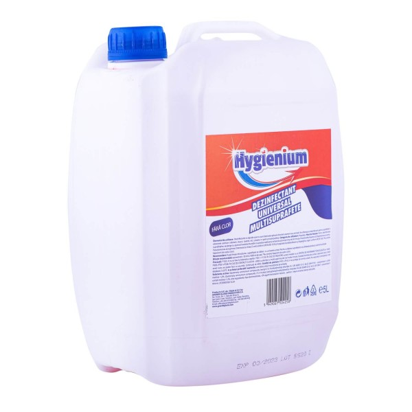 Hygienium Dezinfectant universal suprafete, 5 L avizat Ministerul Sanatatii, la oferta promotionala✅. Produse profesionale de igiena si dezinfectie✅.