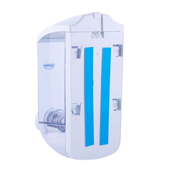 Hygienium Dispenser/Dozator manual pentru sapun, 1000 ml + Aba Sapun Antibacterian rezerva, 1000 ml, la oferta promotionala✅. Produse profesionale de igiena si dezinfectie✅.
