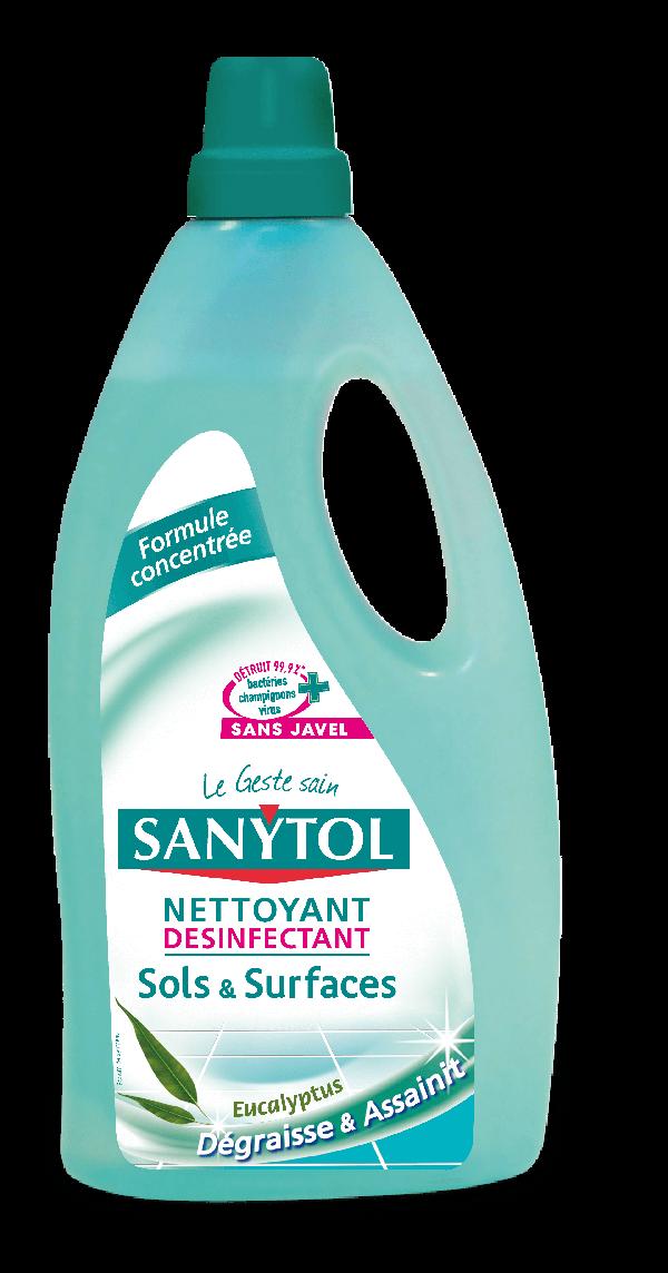 Sanytol Detergent dezinfectant pardoseli si suprafete (eucalipt), 1L, la oferta promotionala✅. Produse profesionale de igiena si dezinfectie✅.